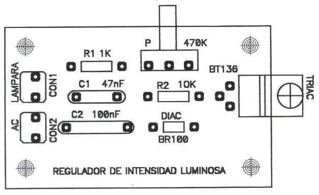 Montaje de un regulador de intensidad luminosa - Regulador de intensidad ...